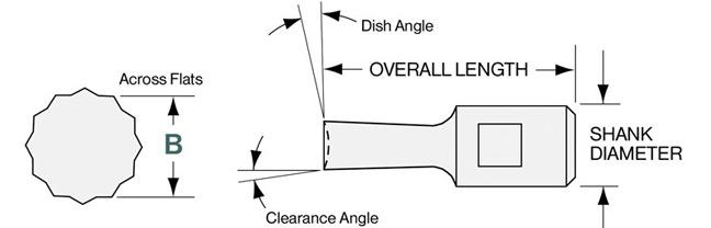 Slater Tools 706-636 Internal Hexagon Broach 0.636 Across Flat 2.75 Length 0.75 Shank Diameter 16.00 mm